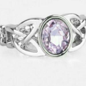 2 rings 1 purple 1 green